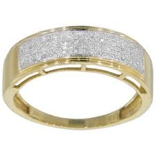 mens gold diamond rings diamond men s rings for less overstock