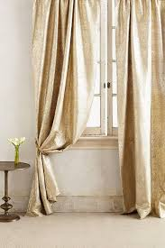 White And Gold Curtains Gold Waves Curtain