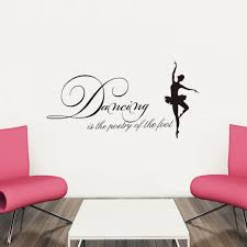 dancing is the poetry of the foot quote home wall sticker quote home wall sticker sale dancing is the poetry of the foot quote