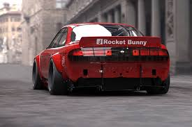 nissan 370z rocket bunny a clever design puts an american twist on a nissan s14 silvia revved
