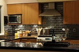 make a statement with a metallic kitchen backsplash