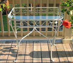 vintage wrought iron patio set 2 chairs nesting tables and tea
