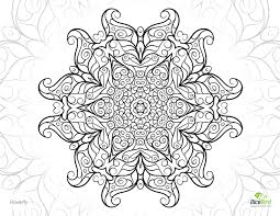 free flowerfly mandala printable coloring pages for adults