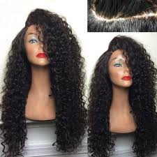 a side part with long hair and a swoop and a cross black long deep side part shaggy kinky curly synthetic wig