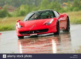 Ferrari 458 Italia - supercars on track uk ferrari 458 italia stock photo royalty free