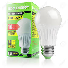 light box light bulbs energy savings modern led l in packing box isolated on white
