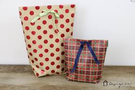 christmas wrap bags how to make a diy gift bag for christmas designer trapped