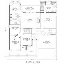 Rectangular House Plans by Pretty Looking 5 Patio Home Plans One Story European House Plan