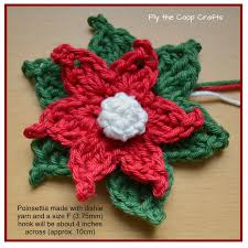 fly the coop crafts poinsettias a crochet tutorial crotchet