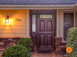 Stain For Fiberglass Exterior Doors Exterior Wood Doors Cheap Entry With Sidelights Door One Sidelight