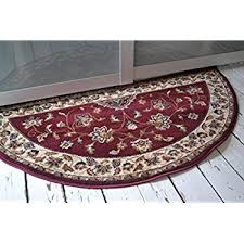 Half Round Kitchen Rugs Red Half Moon Rug Size 70cm X 137cm Amazon Co Uk Kitchen U0026 Home