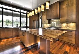 solid wood kitchen countertops gray floor tiles mahogany wood