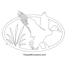 pattern art pdf duck silhouette vector free scroll saw pattern freepatternsarea