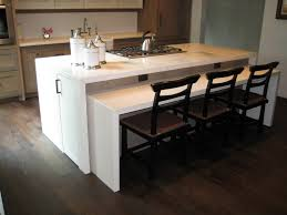 furniture cool white waterfall countertop and barstools with back