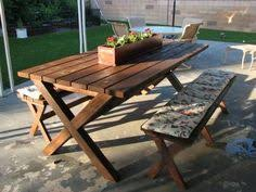 Picnic Table Plans Free Download by How To Build A Picnic Table With Attached Benches Picnic Tables