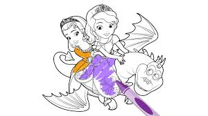 sofia the first the curse of princess ivy coloring page crafts