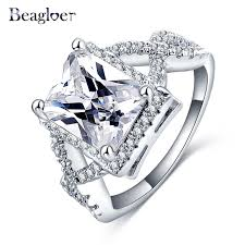 aliexpress buy beagloer new arrival ring gold beagloer fashion new jewelry unisex ring gold color big cubic