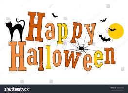 happy halloween greeting various halloween graphics stock vector
