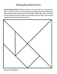 tangram puzzle solving equations tangram puzzle by brian dean tpt