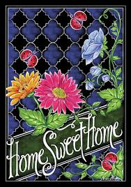 Custom Decor Garden Flags Custom Decor Flag Floral Home Sweet Home Decorative Flag At
