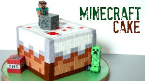how to make a minecraft cake youtube