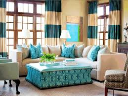 Blue And White Window Curtains Fancy Bright Aquamarine Leather Coffee Table Simple White Cabriole