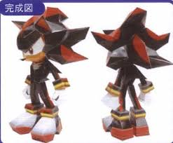 Sonic The Hedgehog Papercraft - shadow the hedgehog papercraft sonic the hedgehog papercraft de