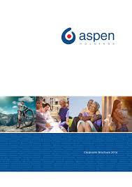 Aspen Bad Oldesloe Aspen Corporate Brochure 2016 By Aspen Holdings Issuu