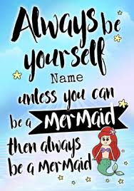 be a mermaid personalised birthday card funky pigeon magical