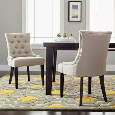 Safavieh Dining Room Chairs by Safavieh En Vogue Dining Abby Taupe Linen Dining Chairs Set Of 2