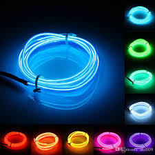 glow lights 2m neon light glow el wire rope cable led neon