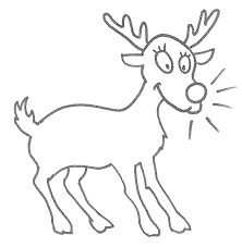 reindeer coloring page animals town animal color sheets