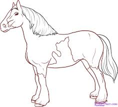 how to draw a horse step by step farm animals animals free