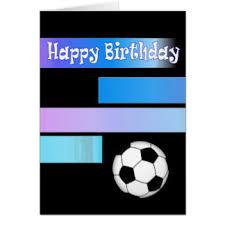 birthday soccer greeting cards zazzle co uk