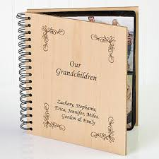 engraved photo albums personalized wood photo album engraved for grandparents