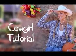 Halloween Costume Cowgirl Cowgirl Makeup Hair U0026 Halloween Costume