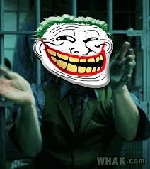 Batman Face Meme - troll batman trollface joker a serious gif