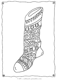 christmas coloring stocking milliande u0027s free christmas