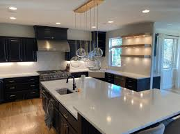 kitchen cabinets with white quartz countertops 2020 color trends black cabinets gold hardware white