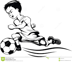 soccer player kicking ball drawing clipart free clipart