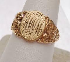 Monogram Signet Rings Engraving A Signet Ring
