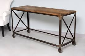 Steel Console Table Console Tables Industrial Console Table Wheels Steel Top 10