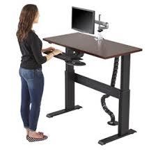 Electric Height Adjustable Computer Desk Newheights Adjustable Height Desks By Rightangle Products