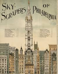 vintage philly skyscraper illustration dating back to 1898