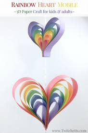 Paper Crafts - spinning rainbow mobile construction paper crafts for