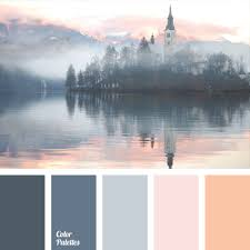 palette that combines shades of dark blue gray and pastel tones