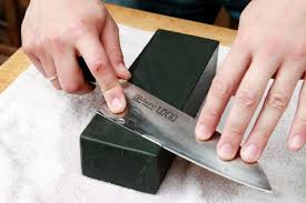 sharpen kitchen knives how to sharpen a knife with a waterstone serious eats knives and