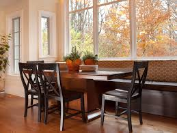 dazzling breakfast nook bench in kitchen transitional with window