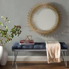 Circle Wall Mirrors Collie Round Sunray Circle Wall Mirror U0026 Reviews Birch Lane