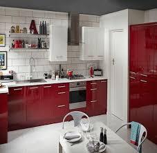 b u0026q cooke u0026 lewis raffello high gloss red slab kitchen compare